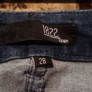 1822 Denim Jeans - 1822 Denim High Waist Distressed Skinny Jeans